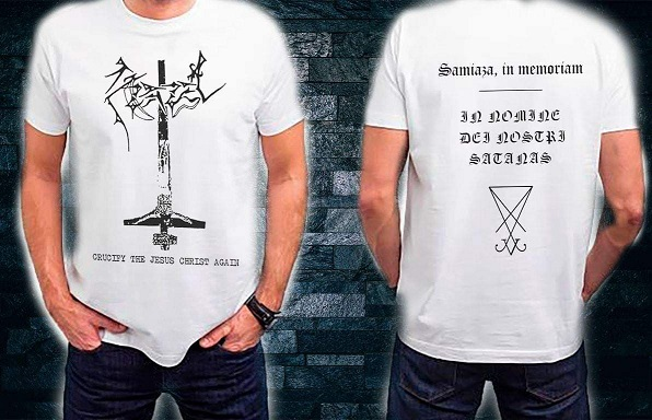 AZAZEL : Crucify the Jesus Christ Again TS XXL-size