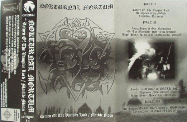 NOKTURNAL MORTUM : Return of the Vampire Lord / Marble Moon