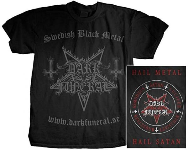 DARK FUNERAL : Swedish Black Metal TS M-size. 2ND HAND