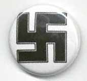 BUTTONS : Black Swastika Button