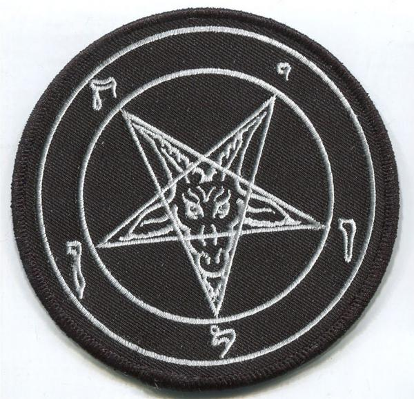 PATCH : Black Baphomet pentagram