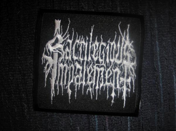 SACRILEGIOUS IMPALEMENT: Logo patch. See product info for MGLA : With Hear
