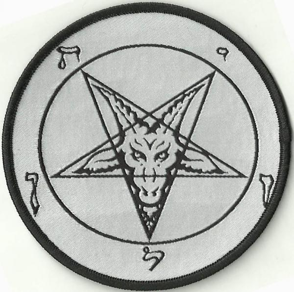 PATCH : white Baphomet pentagram