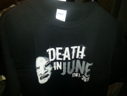 DEATH IN JUNE :  1981-2011 TS (grey print) M-size