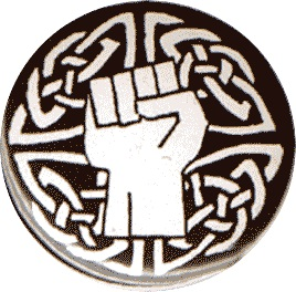 BUTTONS : Celtic White Fist button