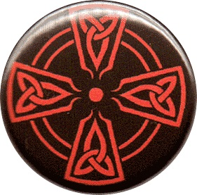 BUTTONS : Red Celtic Cross button