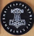 PATCH: Thor's Hammer With Runes (black)