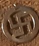 BUTTONS: Swastika pendant 1
