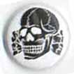 BUTTONS: (White) Totenkopf Button