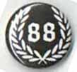 BUTTONS: (Black) 88 Wreath Button