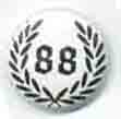 BUTTONS: (White) 88 Wreath Button