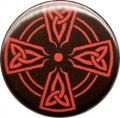 BUTTONS: Red Celtic Cross button