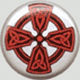 BUTTONS: Red Knot Celtic Cross button